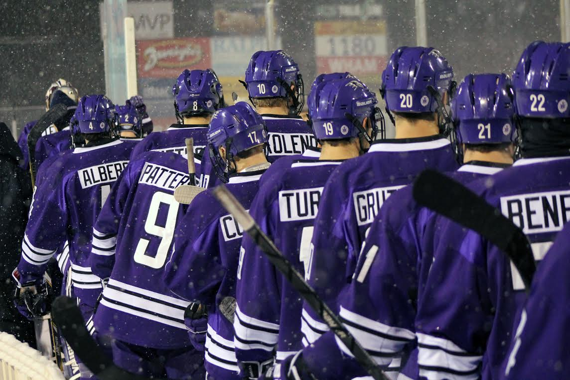 Niagara played an outdoor game against RIT at Frontier Field in 2013. (Niagara Athletic Communications)