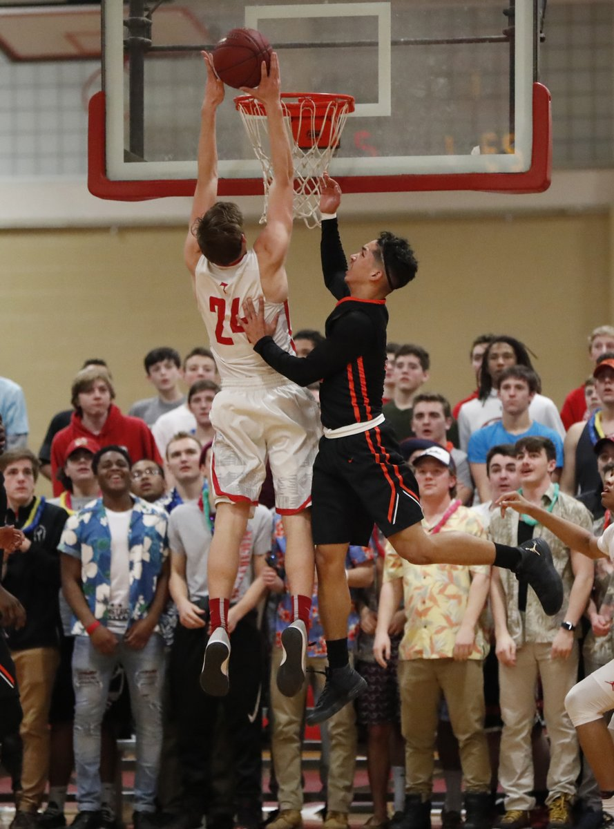 Sean Taggert goes up strong to the basket for St. Francis against Park on Friday night. (Harry Scull Jr./Buffalo News)