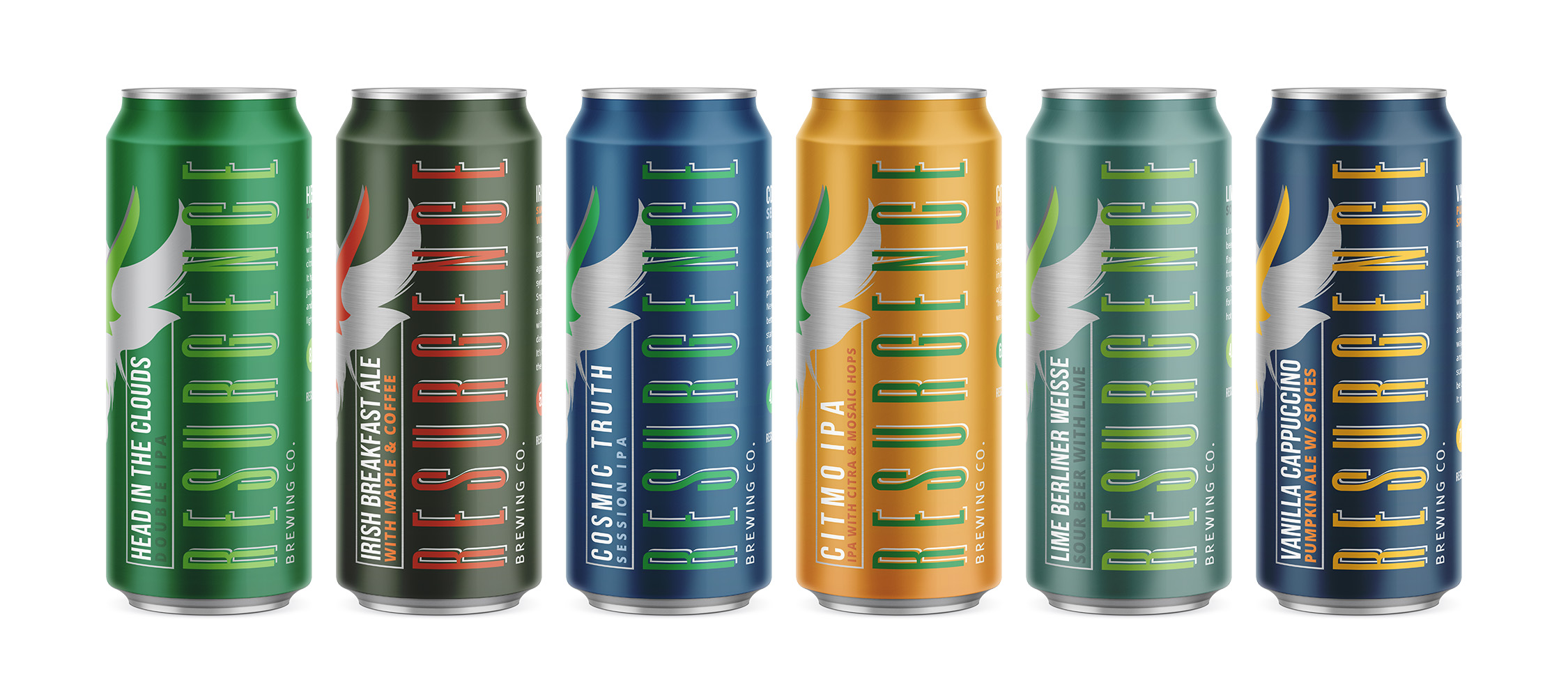 Resurgence Brewing Co. has started to roll out its  new can lineup. (Photo courtesy Resurgence Brewing Co.)