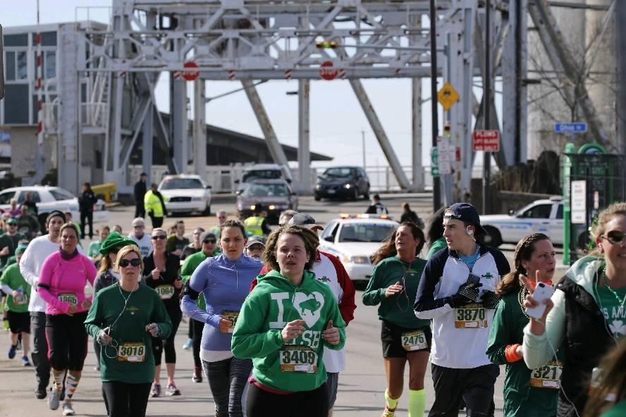 The annual Shamrock Run steps off in the Old First Ward on Saturday. (Derek Gee/Buffalo News file photo)