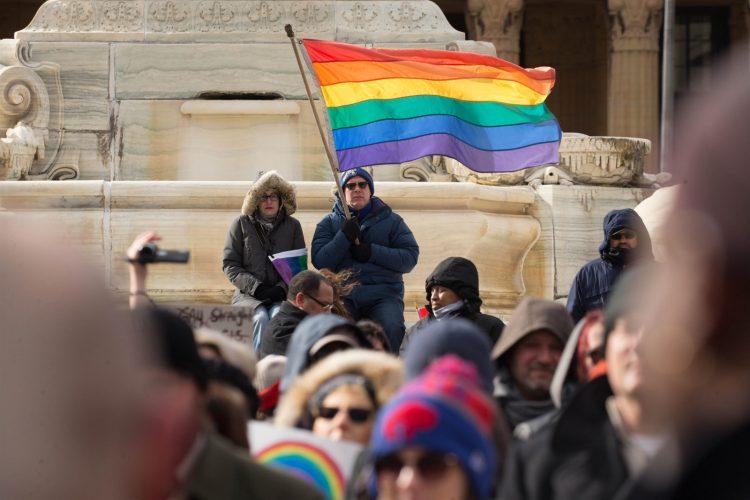 Rally for transgender civil rights