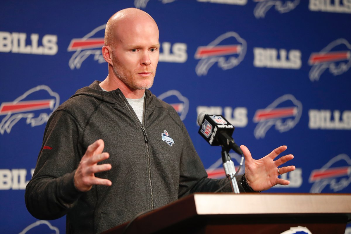Bills coach Sean McDermott shares the same vision as GM candidate Brandon Beane. (Harry Scull Jr./Buffalo News)