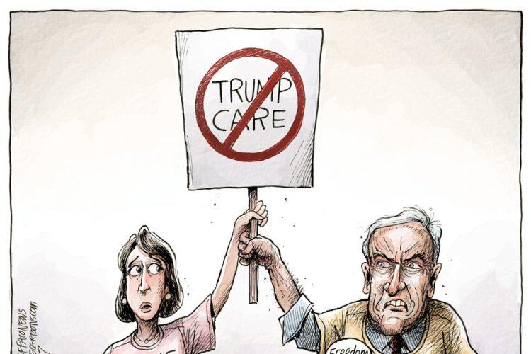 Adam Zyglis: Saving Obamacare