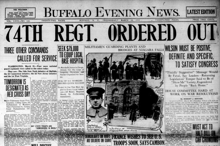 Front page, March 28, 1917: Man crushed to death by elevator at Hotel Statler