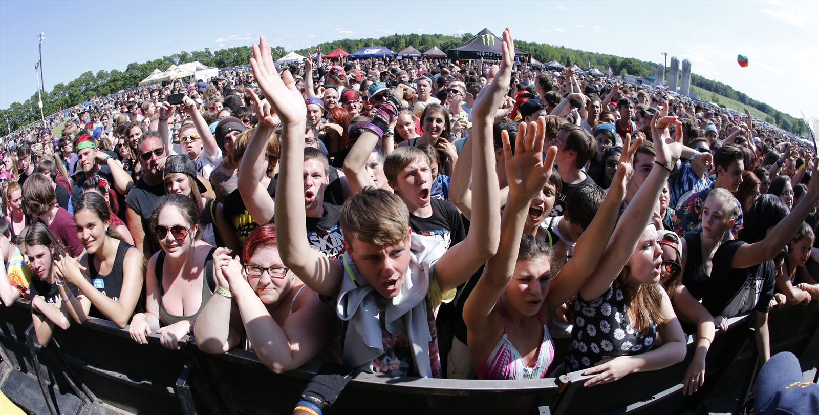 Warped Tour fans packed the Darien Lake Amphitheater  grounds during a recent tour stop. (Harry Scull Jr./Buffalo News file photo)