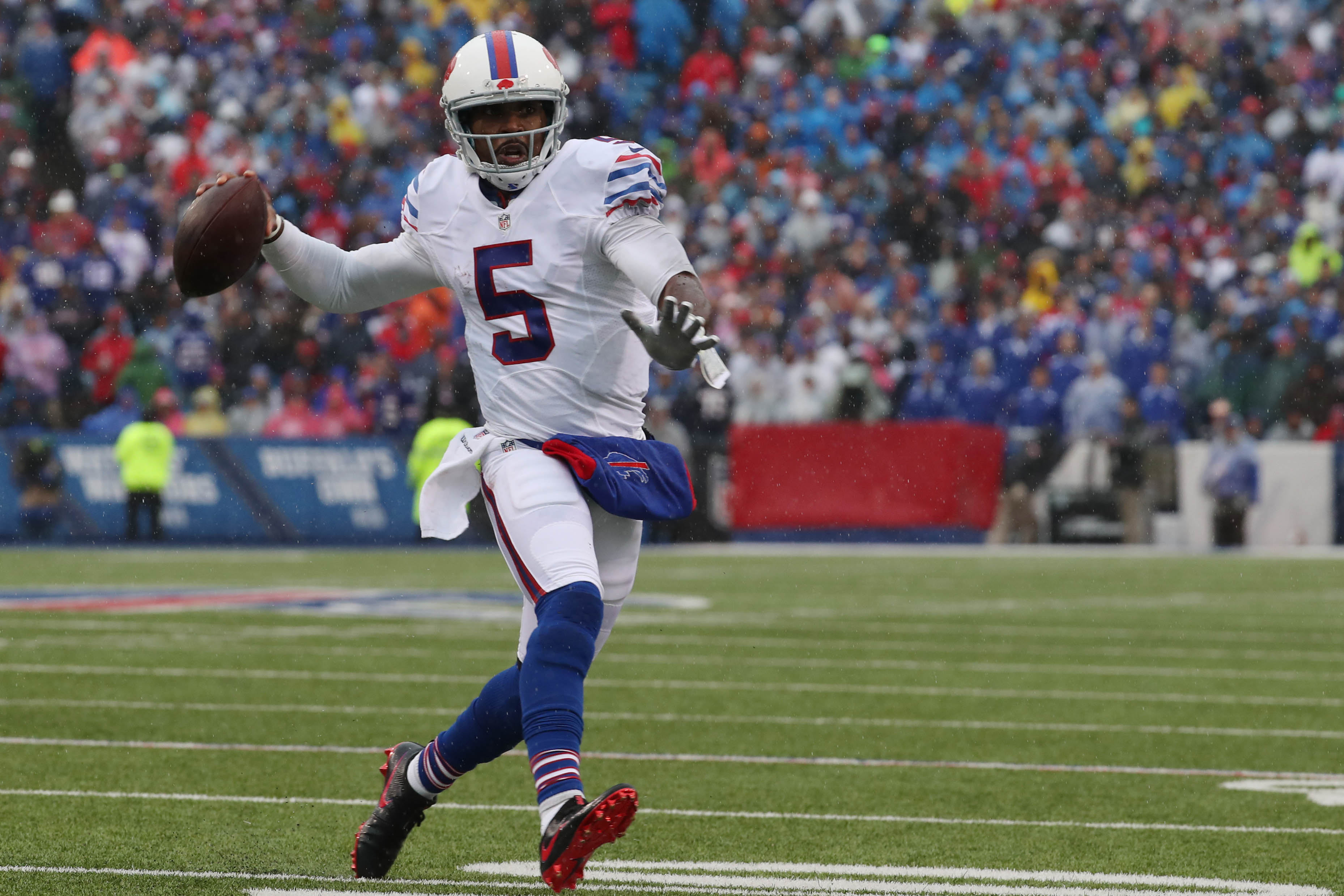 Quarterback Tyrod Taylor will remain with the Bills under a restructured deal. (Harry Scull Jr./Buffalo News)