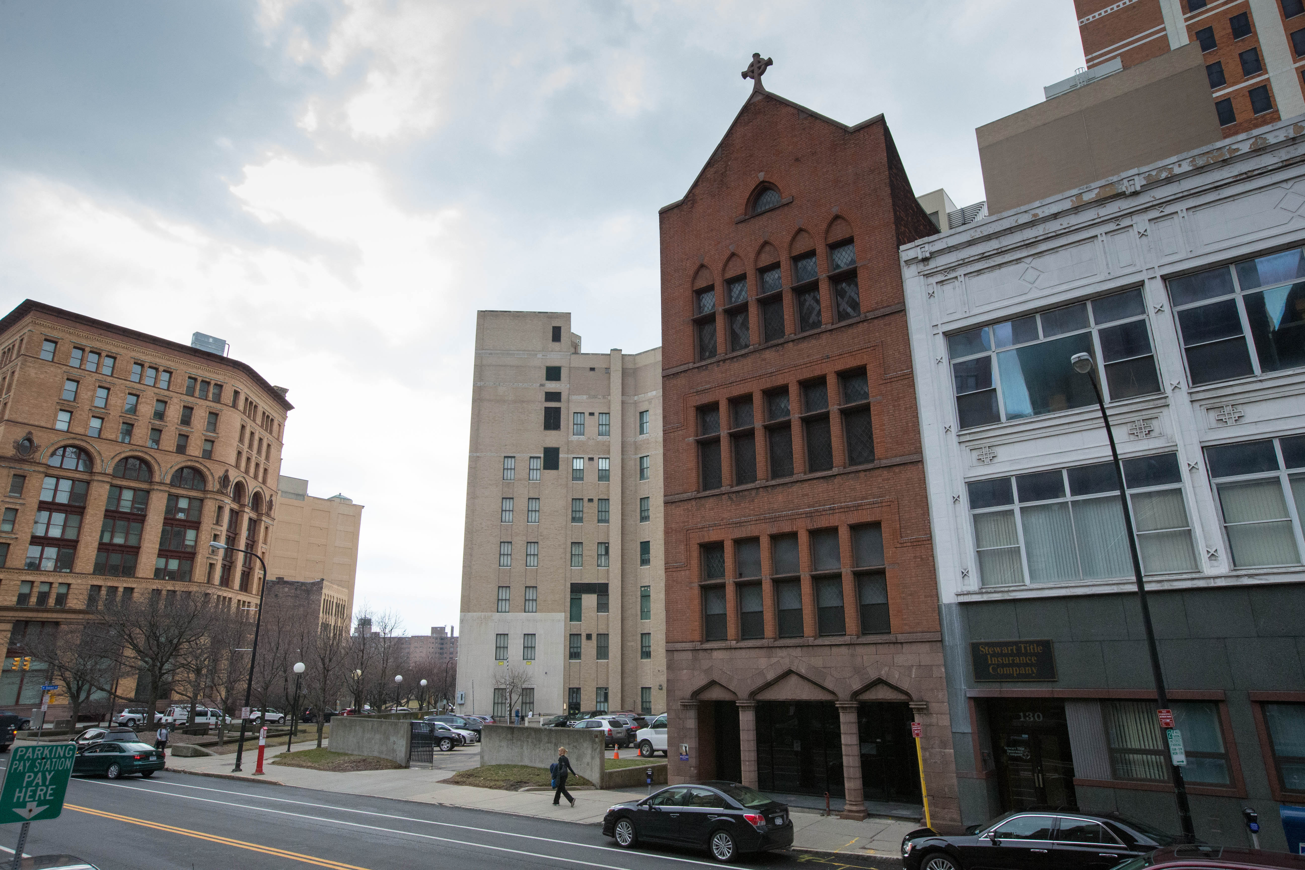 The Erie County Industrial Development Agency approved $79,000 in tax breaks for a $1.8 million project to convert 128 Pearl St., which historically has served as offices and educational space for St. Paul's Cathedral, into seven apartments. (Derek Gee/Buffalo News file photo)