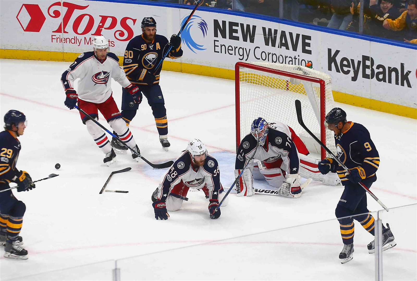 Evander Kane (9) and the Sabres stormed back to beat Columbus earlier this month. (John Hickey/Buffalo News)