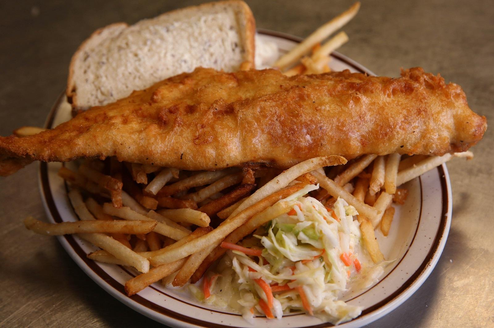 Wiechec's beer-battered haddock fish fry. (Sharon Cantillon/Buffalo News)