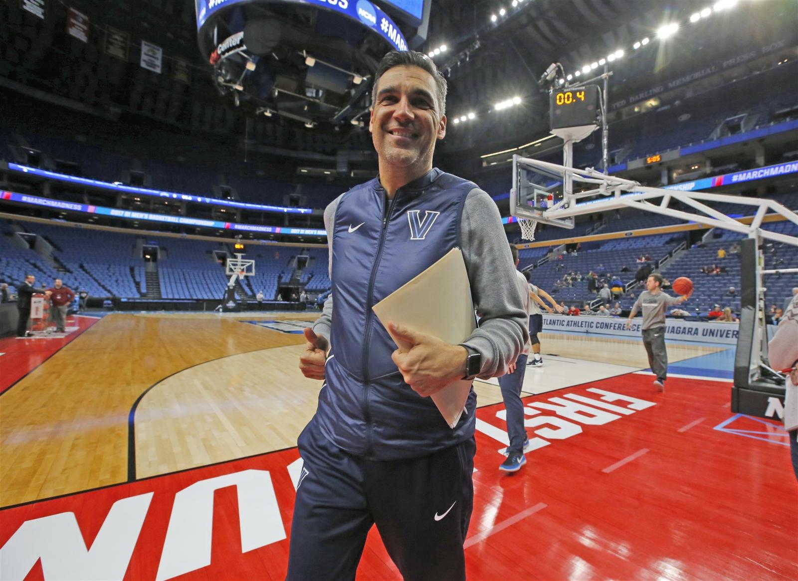 NCAA practice: Villanova, Wisconsin, Mount St. Mary's, Virginia Tech