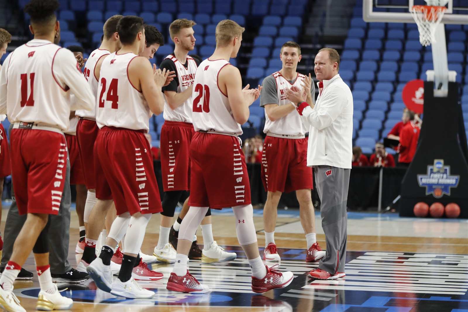 Wisconsin coach Greg Gard won a Division III title at Buffalo State. (Harry Scull Jr./Buffalo News)