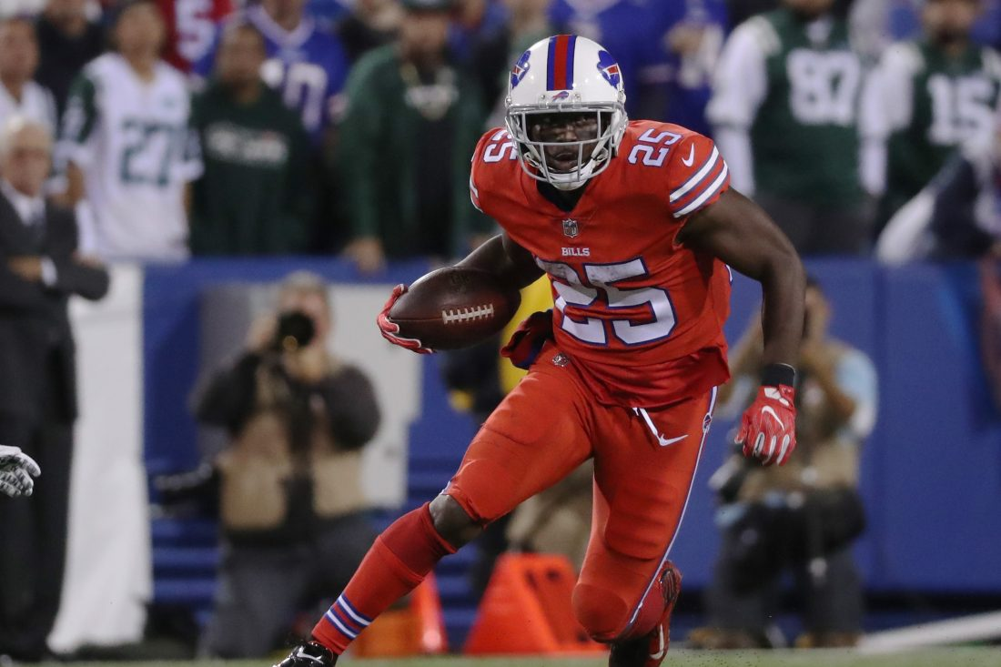 LeSean McCoy is the type of player the Buffalo Bills might consider moving on from if they were to enter a rebuild, but that doesn't sound like the plan. (James P. McCoy/Buffalo News)