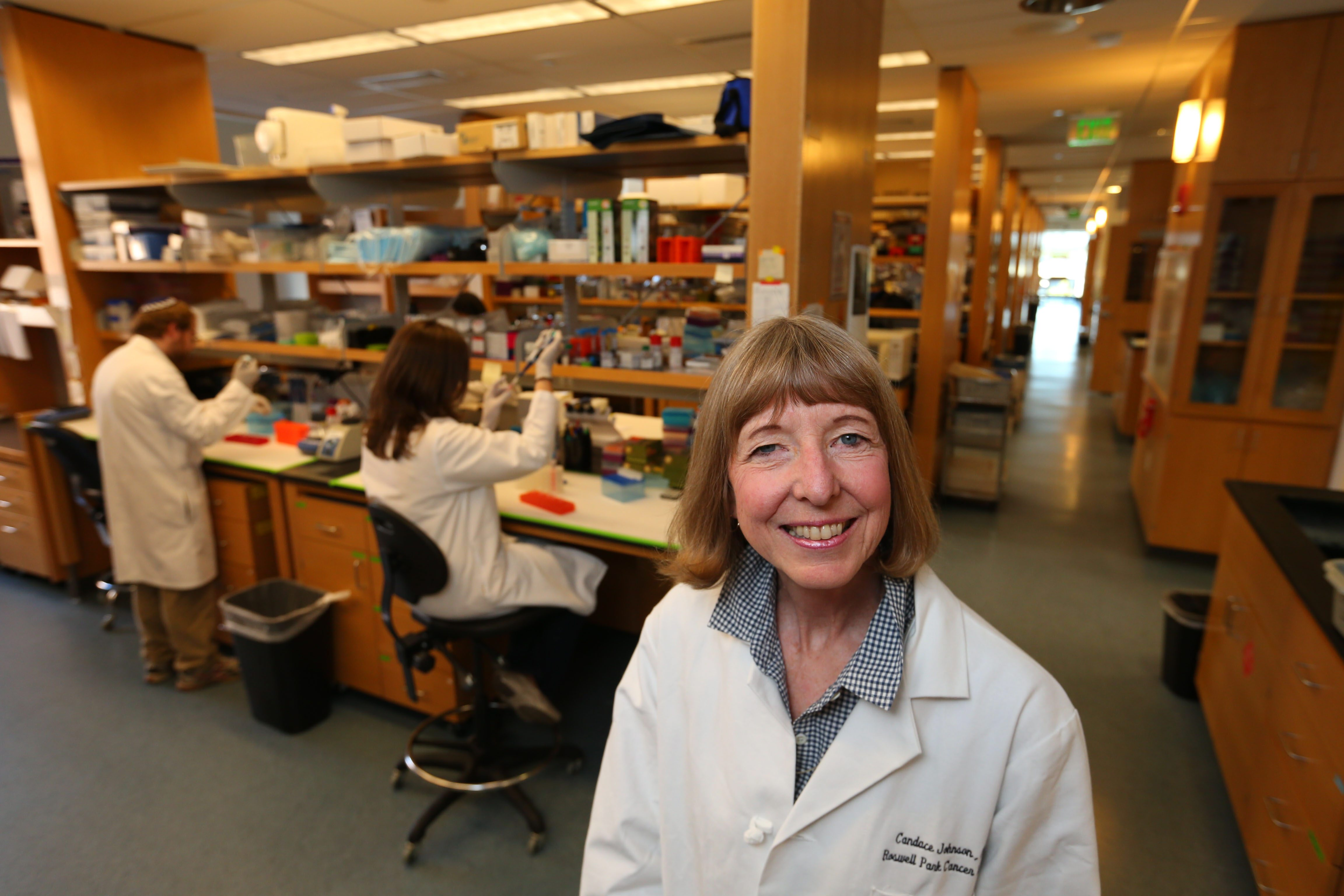 Dr. Candace Johnson in the lab area of the Center for Personalized Medicine at Roswell Park Cancer Institute in Buffalo.   (Mark Mulville/Buffalo News file photo)