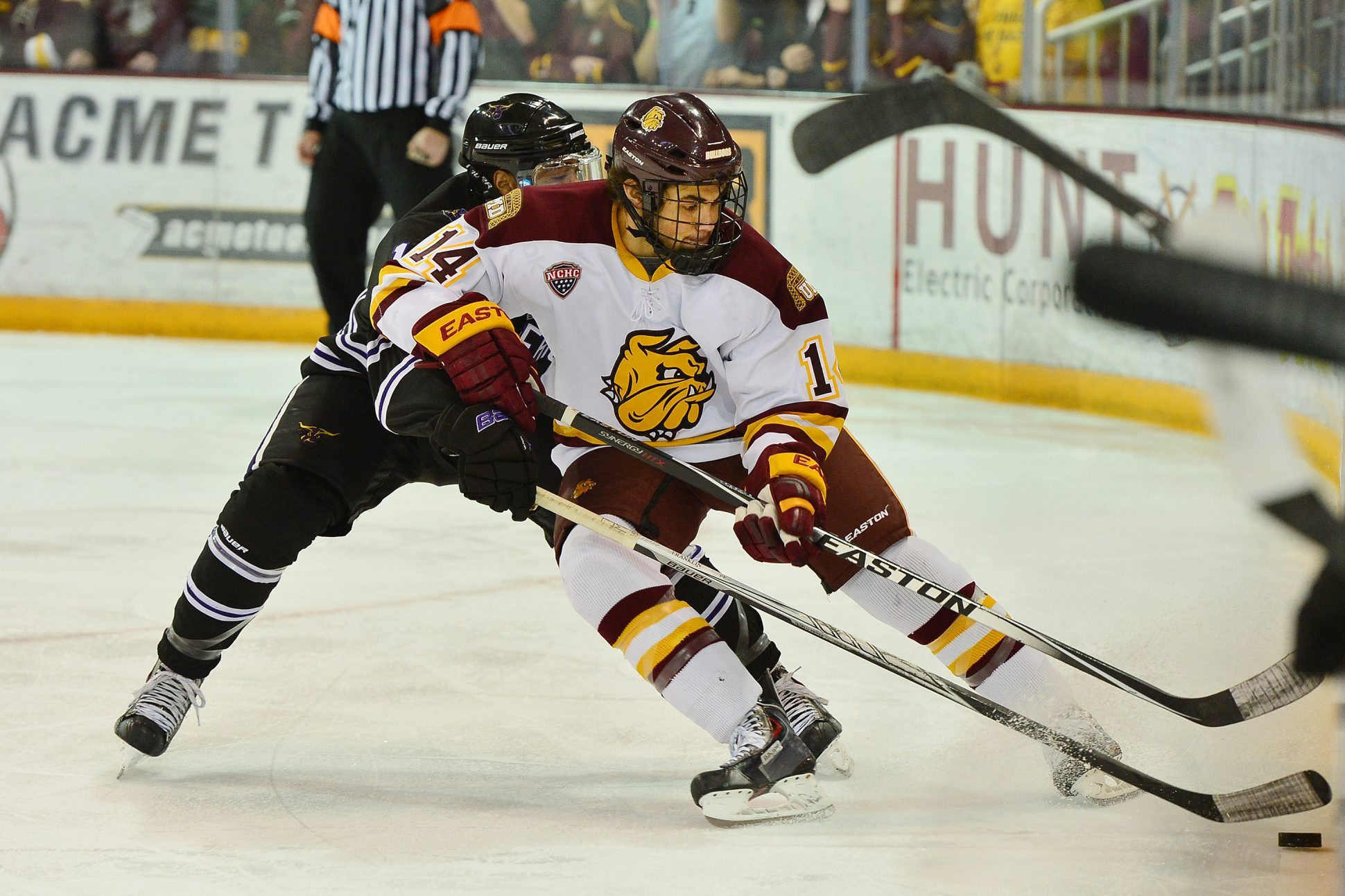 After a four-year career with Minnesota-Duluth, Alex Iafallo is on the cusp of making his NHL debut. (UMD Athletics)