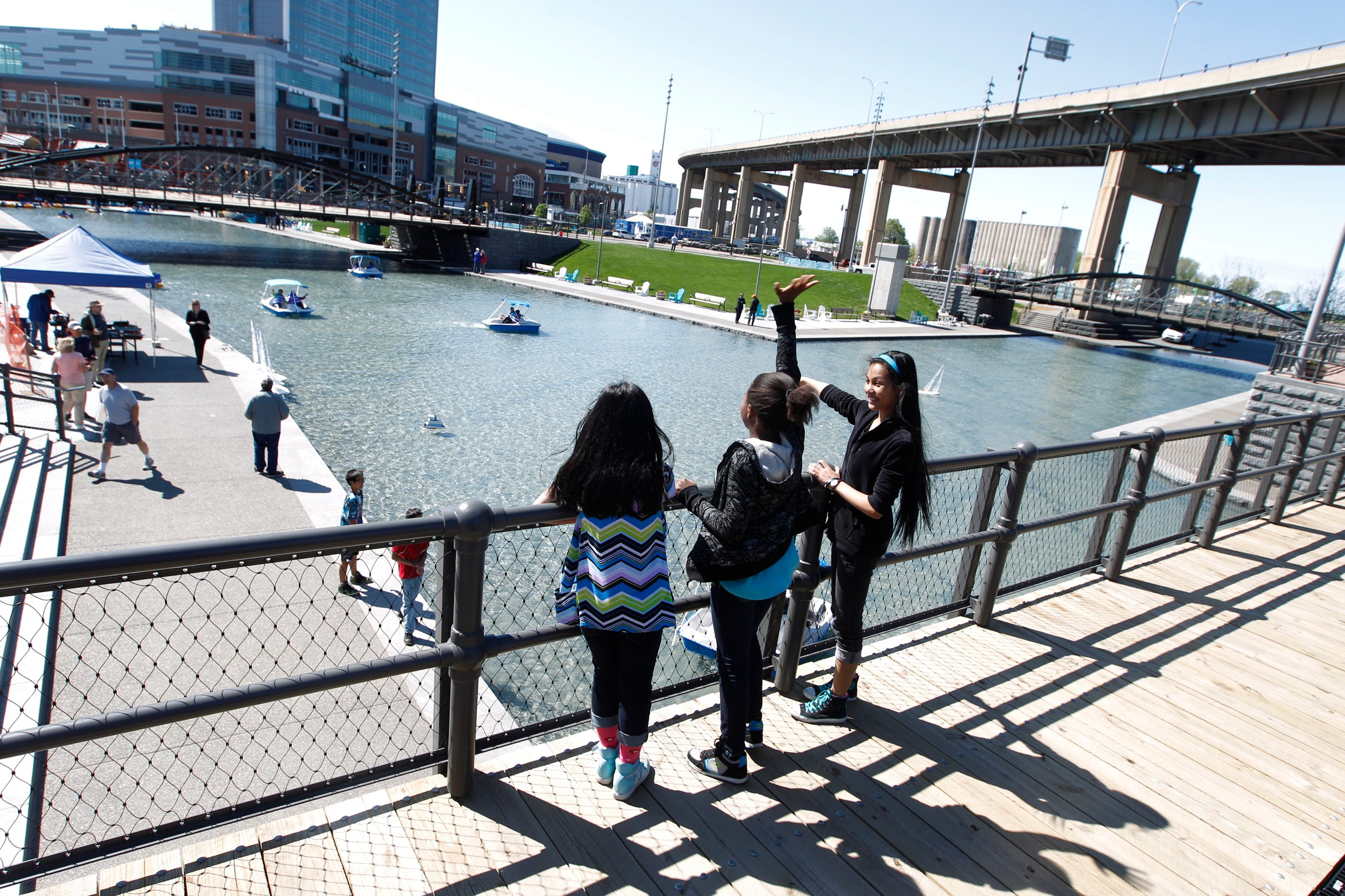Canalside is only one of the parts of Buffalo where NCAA visitors will see noticeable changes. (John Hickey/News file photo)