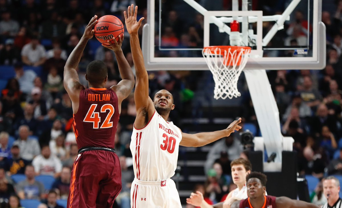 Despite a hot-shooting night from Ty Outlaw and the Virginia Tech Hokies, they couldn't quite catch Wisconsin on Thursday. (Harry Scull Jr./Buffalo News)