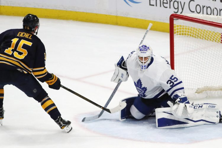 Eichel, Sabres punch out Maple Leafs and their fans