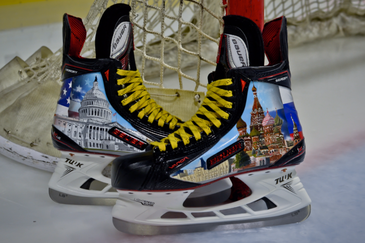Caps to auction Ovechkin Russian Heritage Night skates designed in WNY