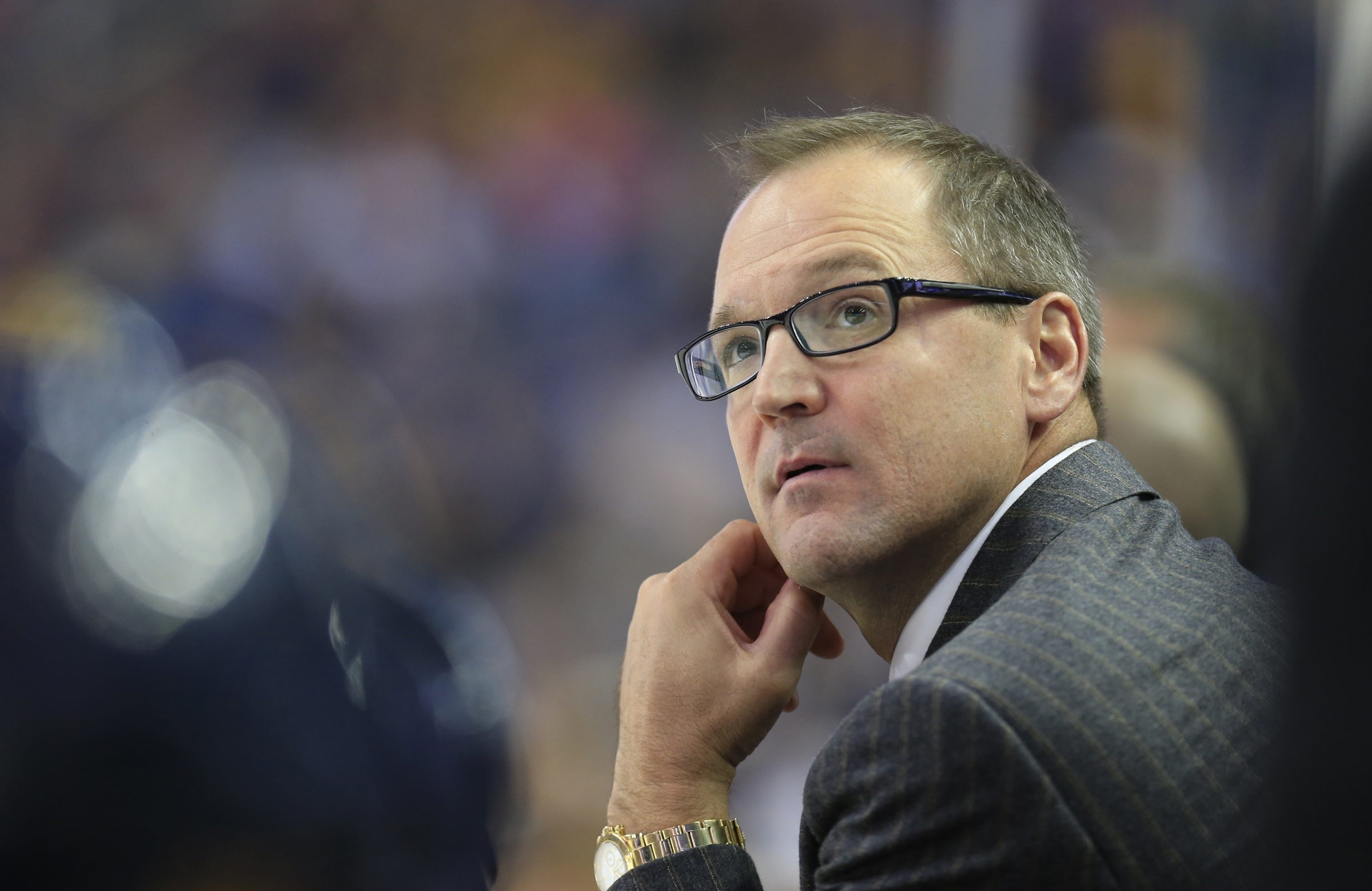 Dan Bylsma needed to see more attachment from his team after the first period (Harry Scull/Buffalo News file photo).