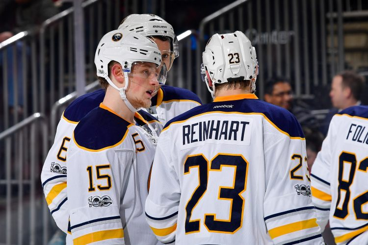 Sabres' Reinhart says benching was 'tough one to swallow'
