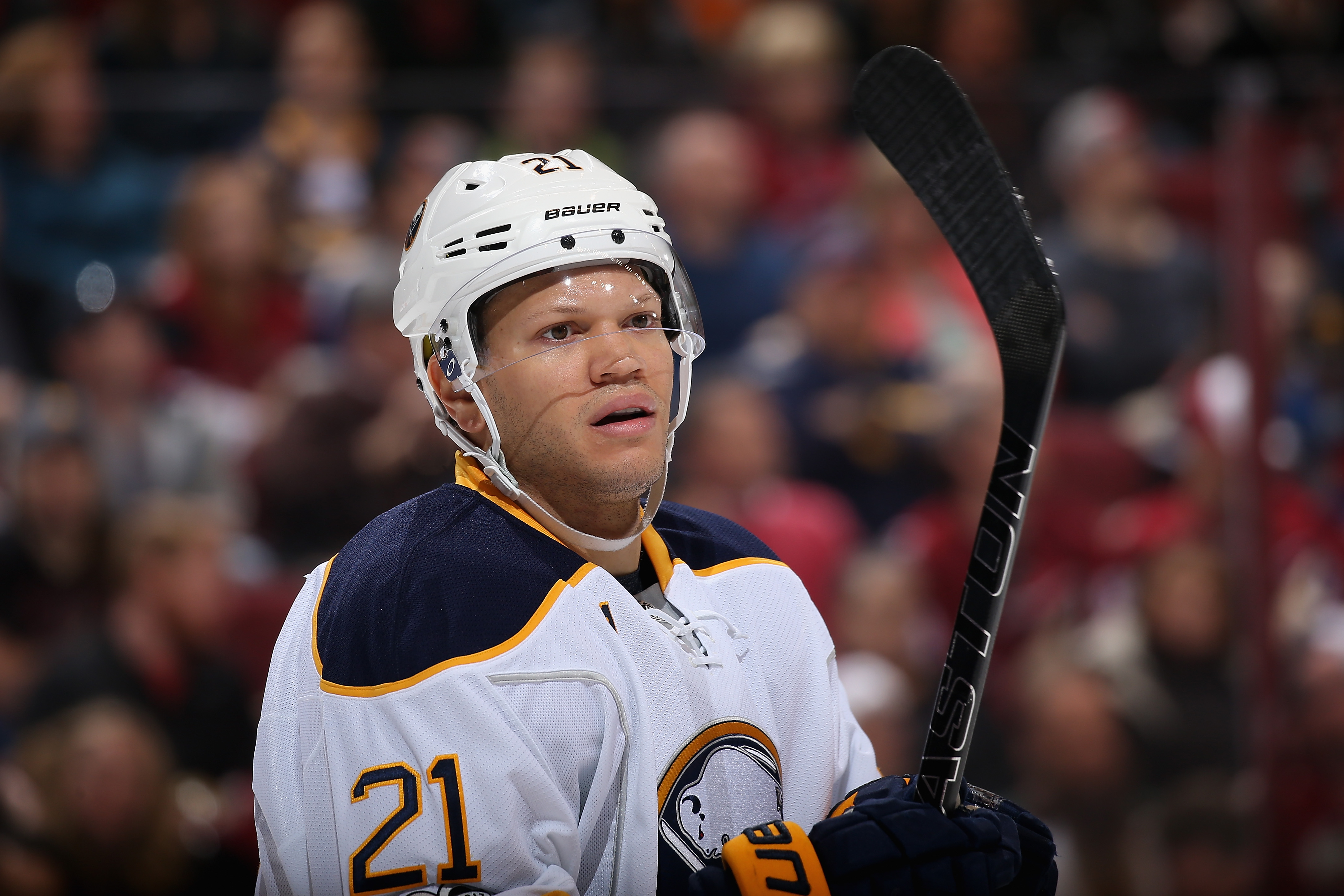 Kyle Okposo played in two games after missing 10 with an injury. (Getty Images)
