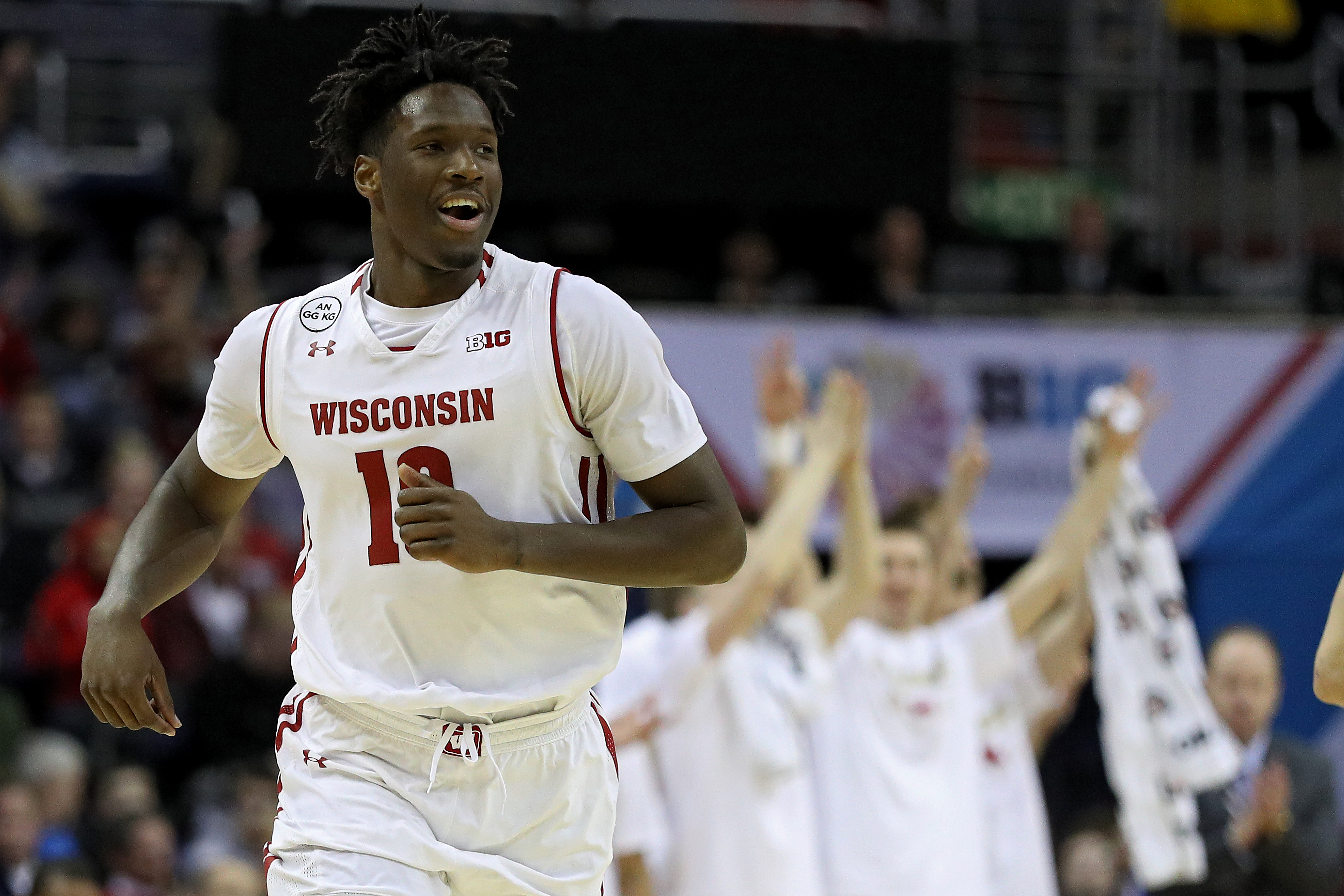 Wisconsin star Nigel Hayes  will lead the Badgers to Buffalo to face Virginia Tech on Thursday in the NCAA Tournament. (Getty Images)