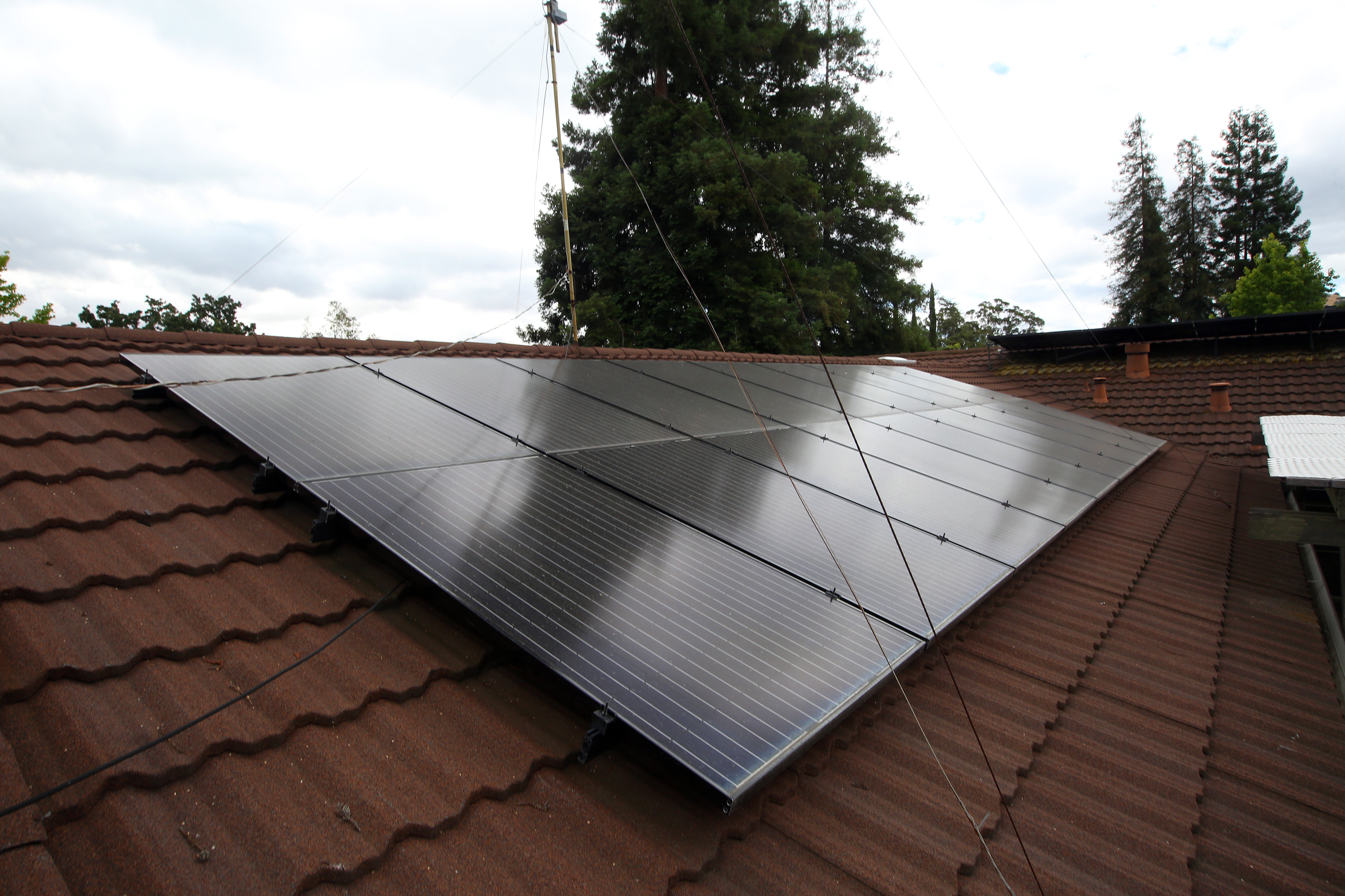 Solar panels on the roof of a home, in Lafayette, Calif. (Jim Wilson/New York Times file photo)