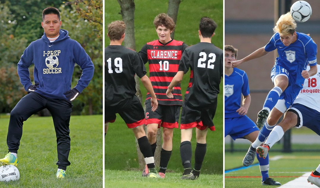 From left: Pa Lu to join BSC Raiders, Sam Sutherland to join Clarence and Nemanja Simic to play for Beast City. (Buffalo News file photos)