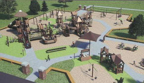 Construction starts in April on the new Hamburg Community Playground at  Prospect and Highland avenues.