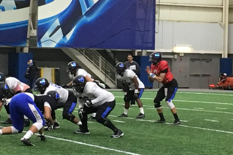 UB football spring practices not a game of who's who?