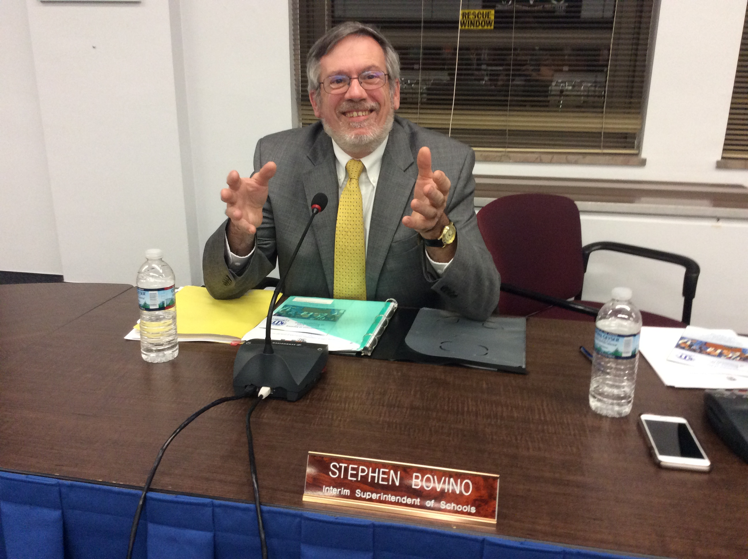 Kenmore-Town of Tonawanda interim superintendent Stephen A. Bovino eyed to take over the top job permanently