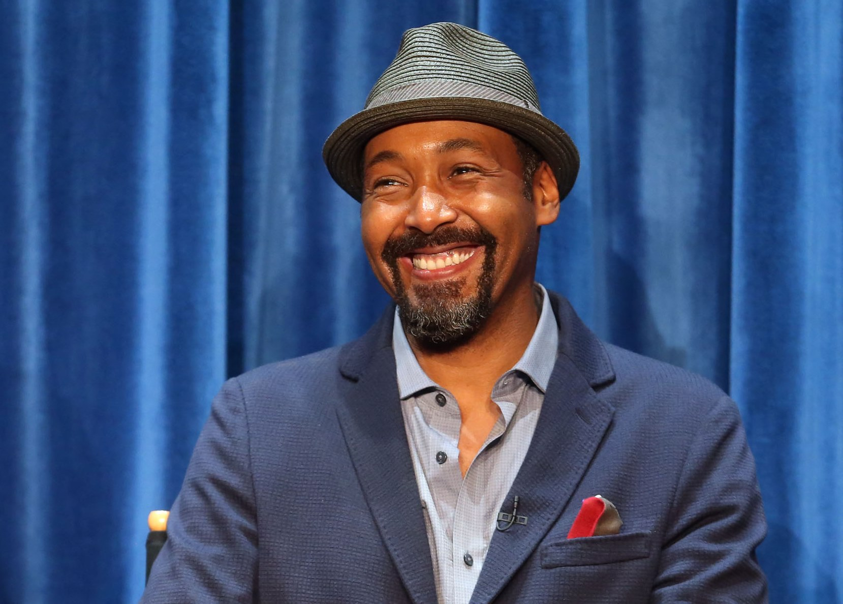 Jesse L. Martin doing press for his new show 'The Flash.' (Getty Images)