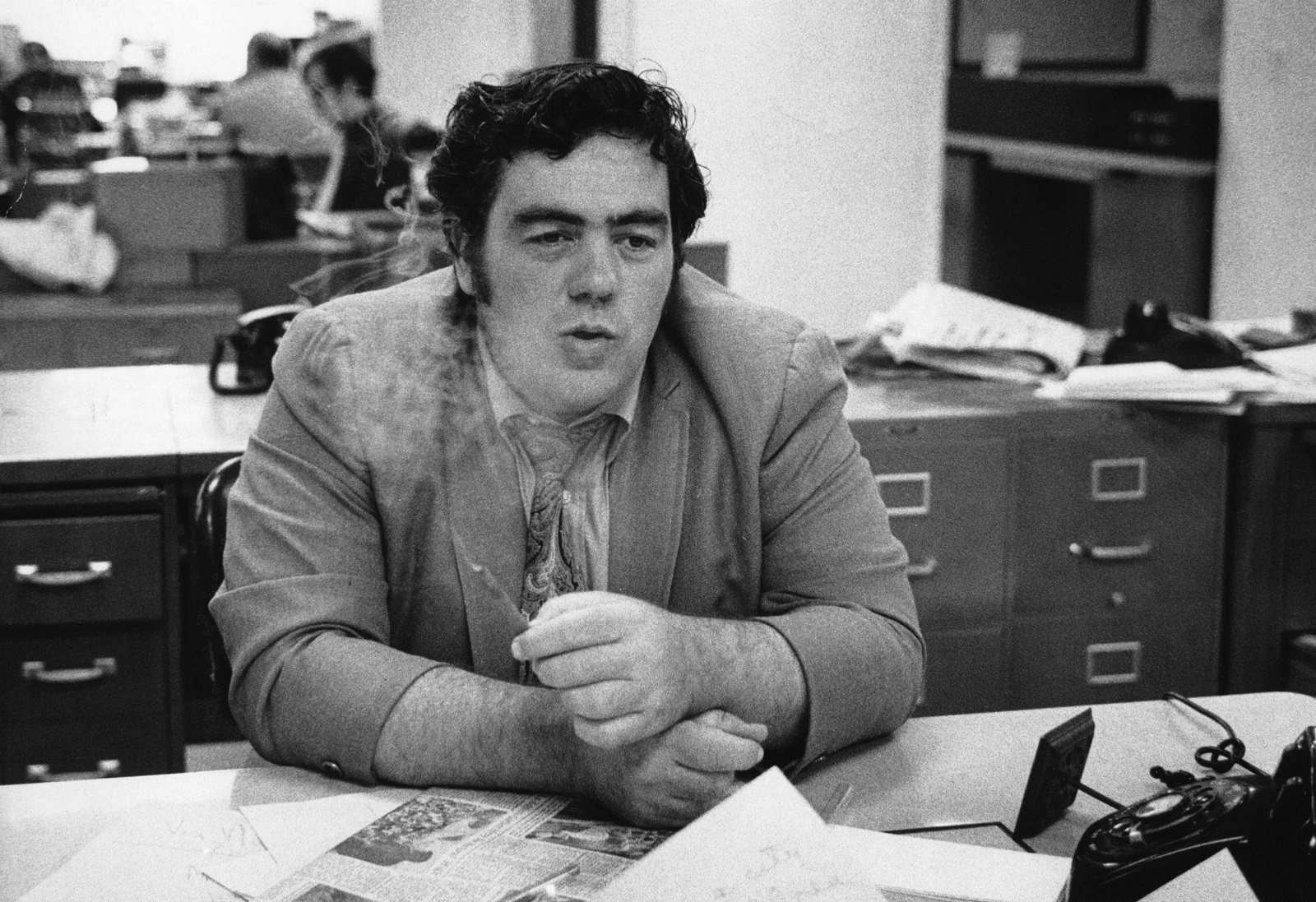Jimmy Breslin in New York in 1970. (Michael Evans/The New York Times)