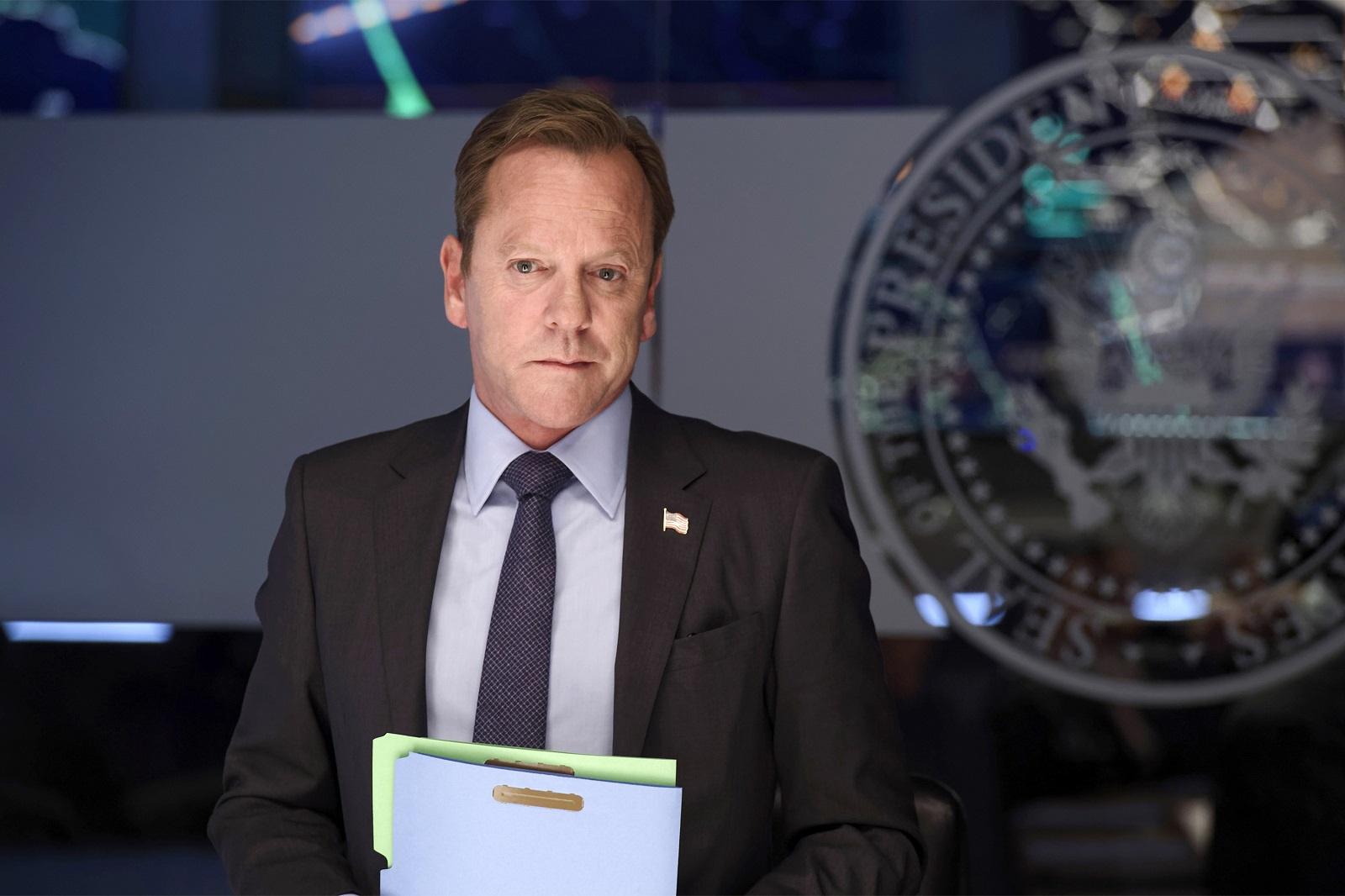 "Kiefer Sutherland returns Wednesday as President Tom Kirkman on ABC's ""Designated Survivor."""