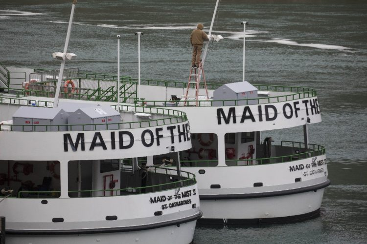 Spruced-up Maid of the Mist ready for an early start