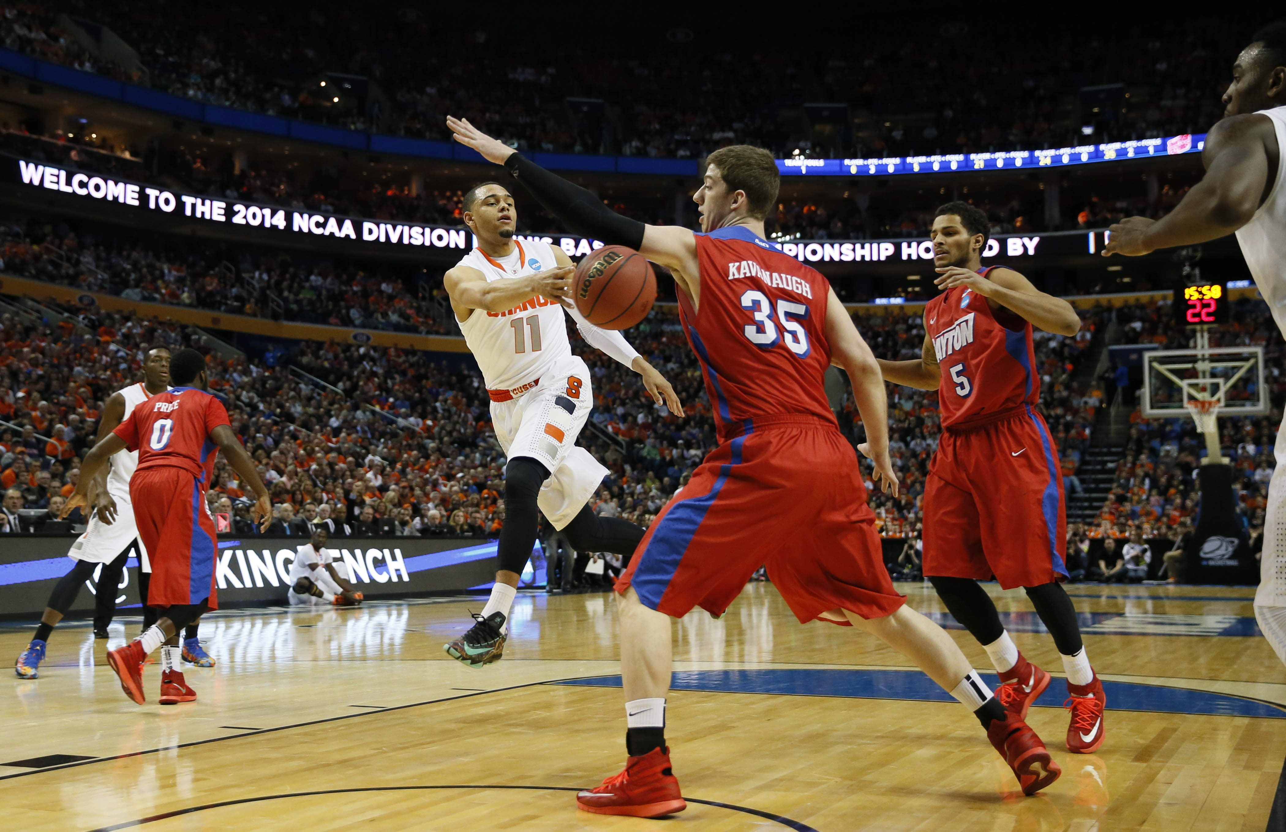 Syracuse played Dayton in 2014, the last time the NCAA Tournament stopped in Buffalo.(Harry Scull Jr./Buffalo News file photo)