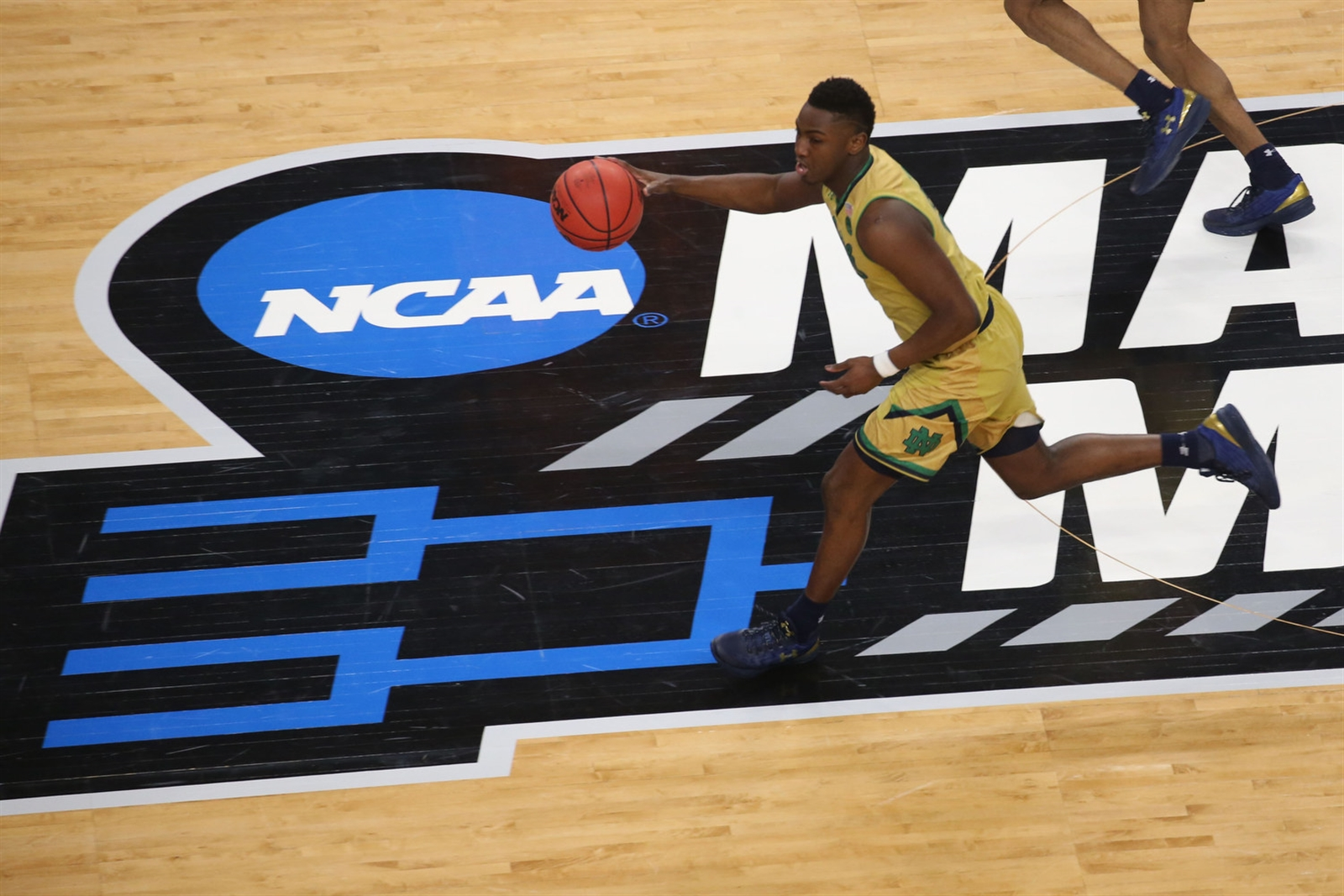 Notre Dame guard T.J. Gibbs runs down the court against Princeton in the first round of the NCAA Tournament at KeyBank Center on Friday, March 17, 2017. (Derek Gee/Buffalo News)
