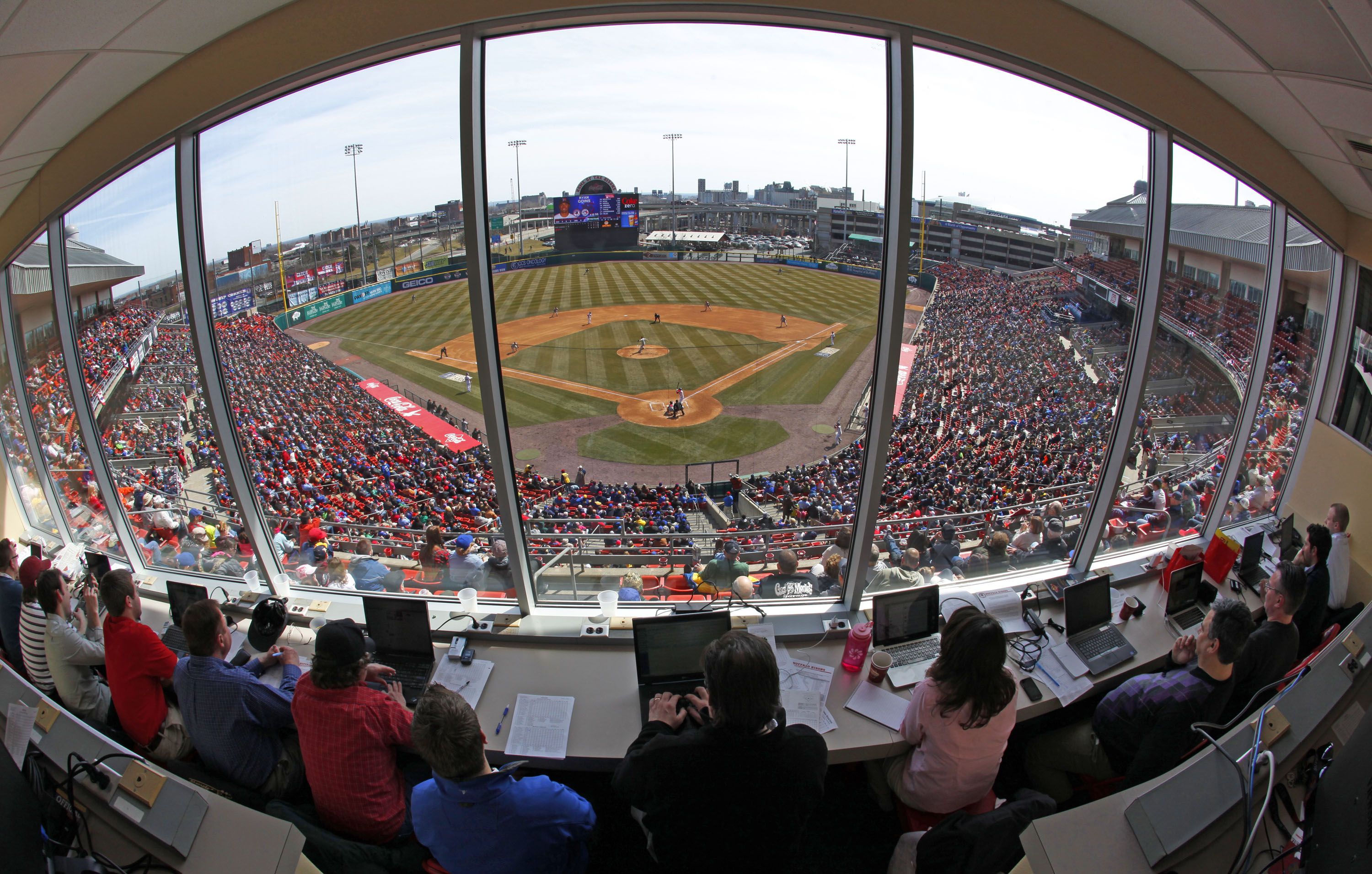 The Bisons will have a new radio announcer at Coca-Cola Field (Harry Scull Jr./News file photo).