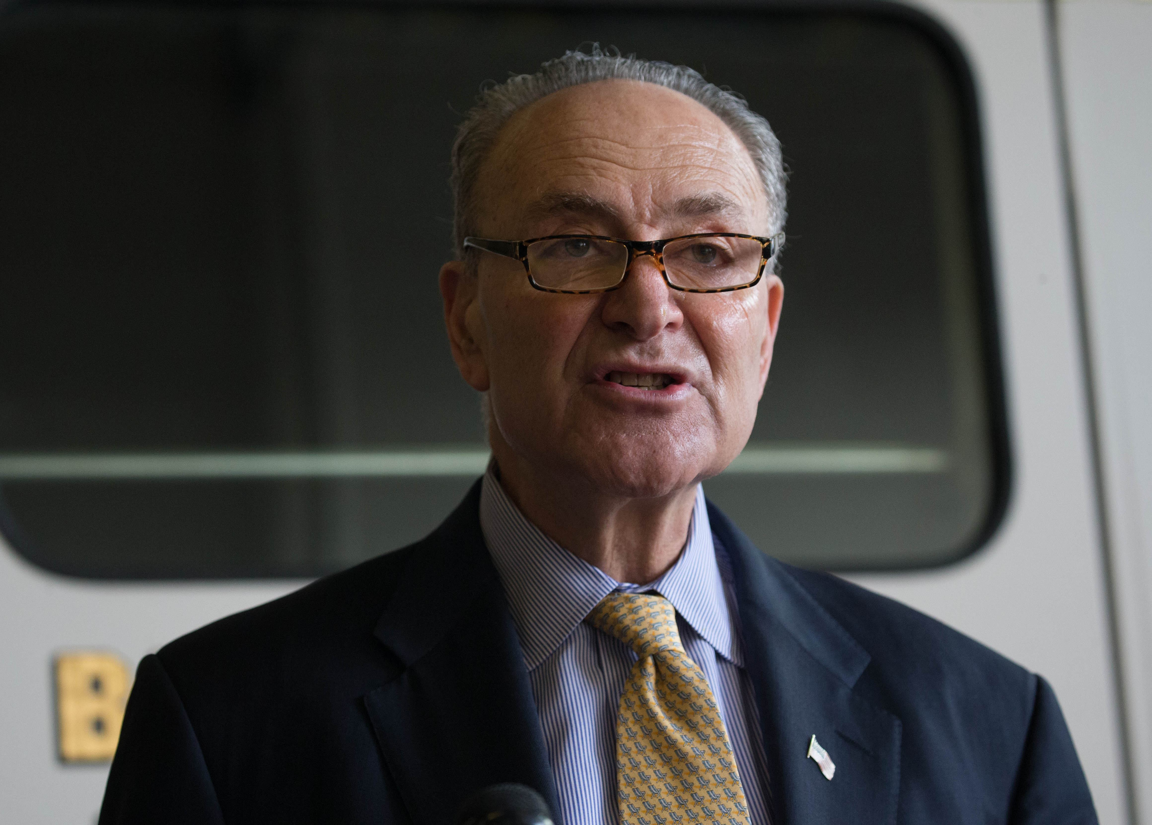 Sen. Charles E. Schumer of New York, the Democratic minority leader, was bent on preventing the public from blaming his party for defunding the government. (Derek Gee/Buffalo News file photo)