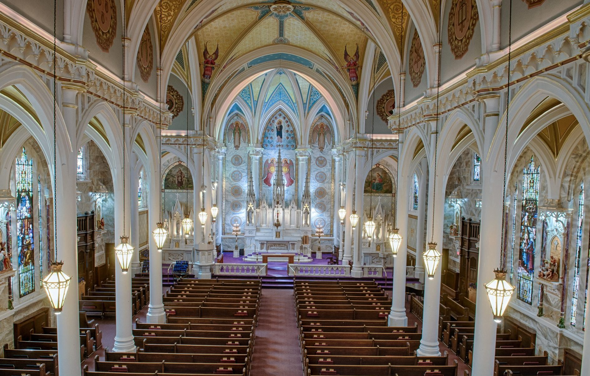 The interior of St. Mary of the Angels Church in Olean. Photo courtesy of Darrel Gronemeier.
