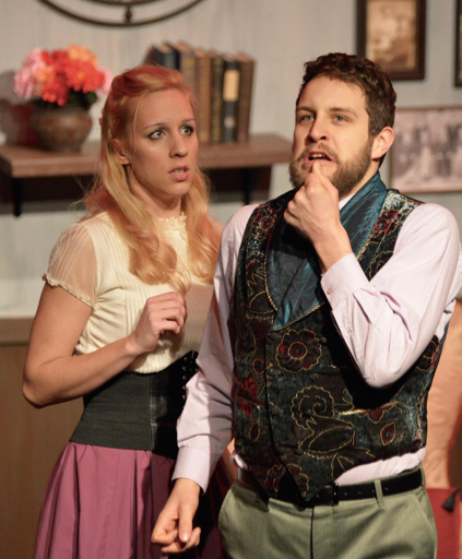 "Candice Kogut and Ben Caldwell star in ""The Underpants"" at American Repertory Theater of WNY."