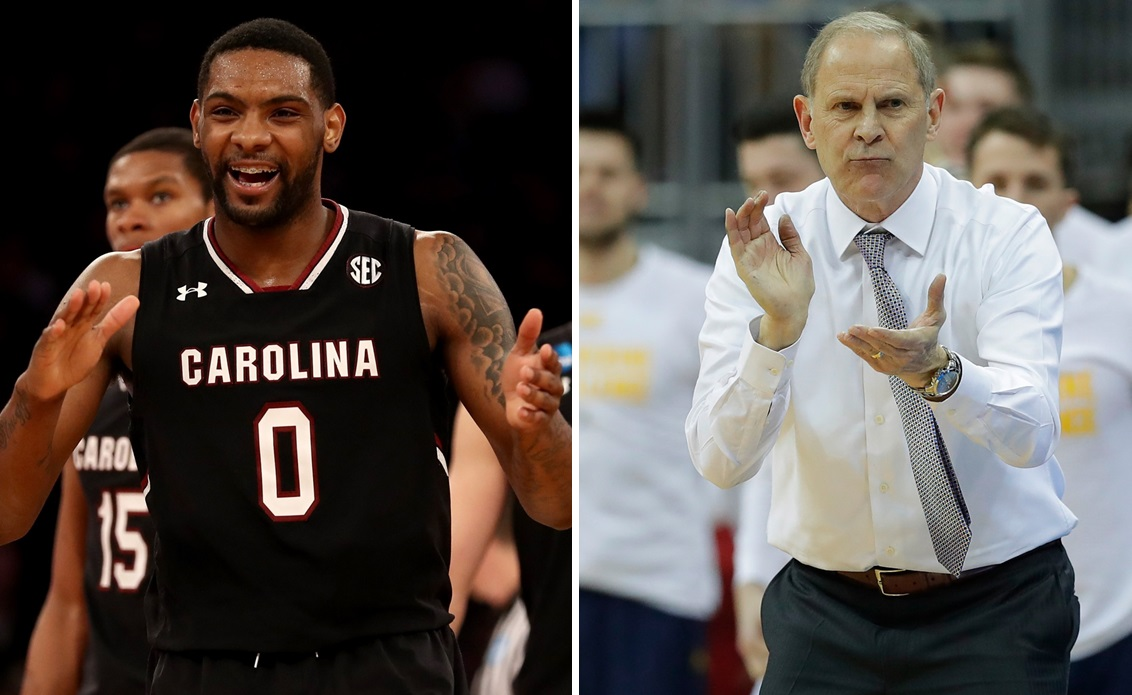 South Carolina and Sindarius Thornwell are earning more respect among national media, while John Beilein, right, proved classy yet again. (Getty Images)