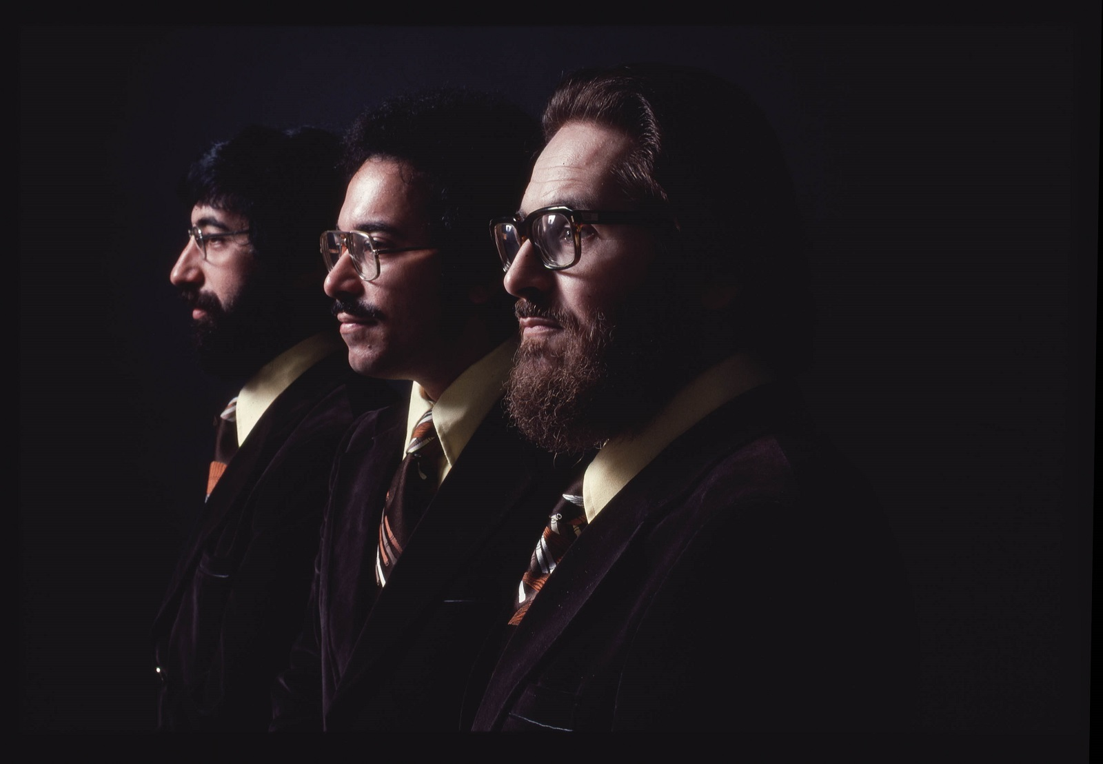 Left to right, Eliot Zigmund, Eddie Gomez, Bill Evans (Phil Bray)
