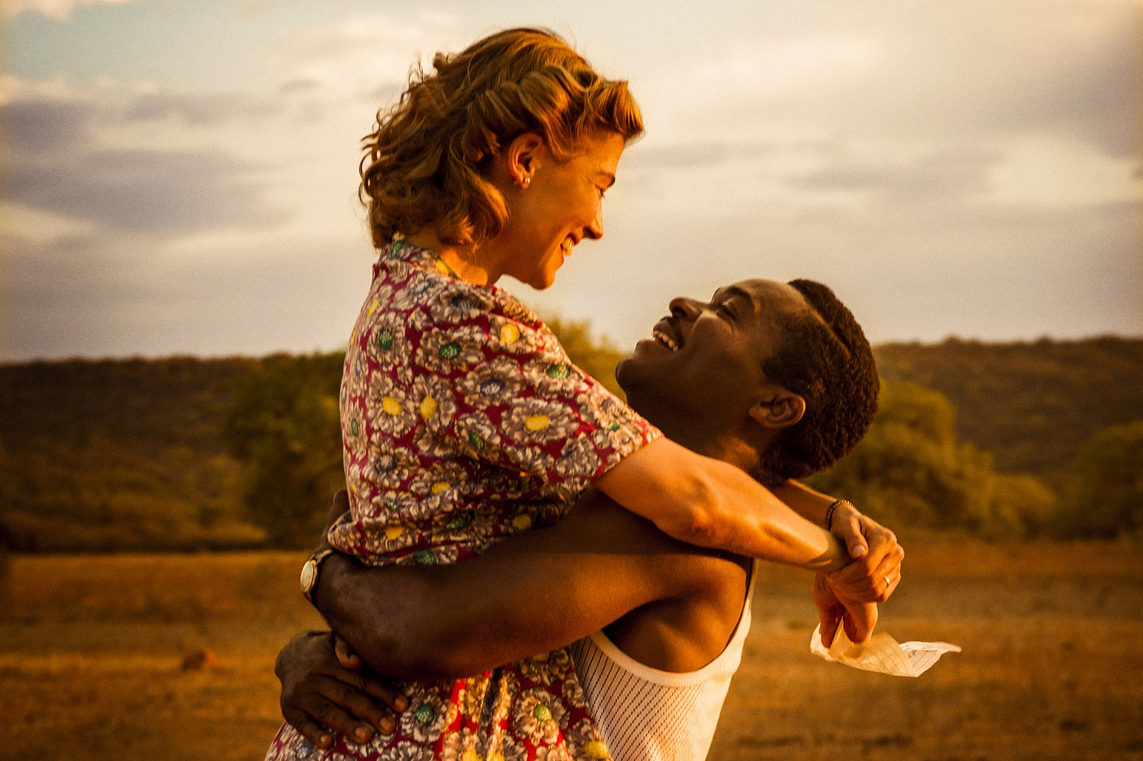 "David Oyelowo as Seretse Khama and Rosamund Pike as Ruth Williams in ""A United Kingdom"" (Fox Searchlight Pictures)"