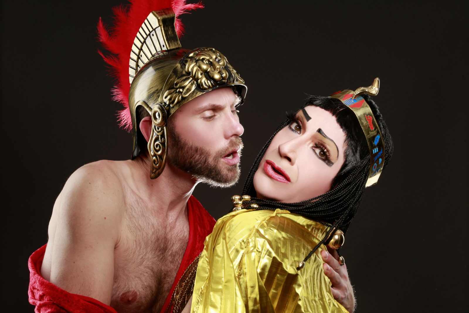 "Michael Seitz and Jimmy Janowski star in a Buffalo United Artists production of ""Cleopatra"" by Charles Busch."