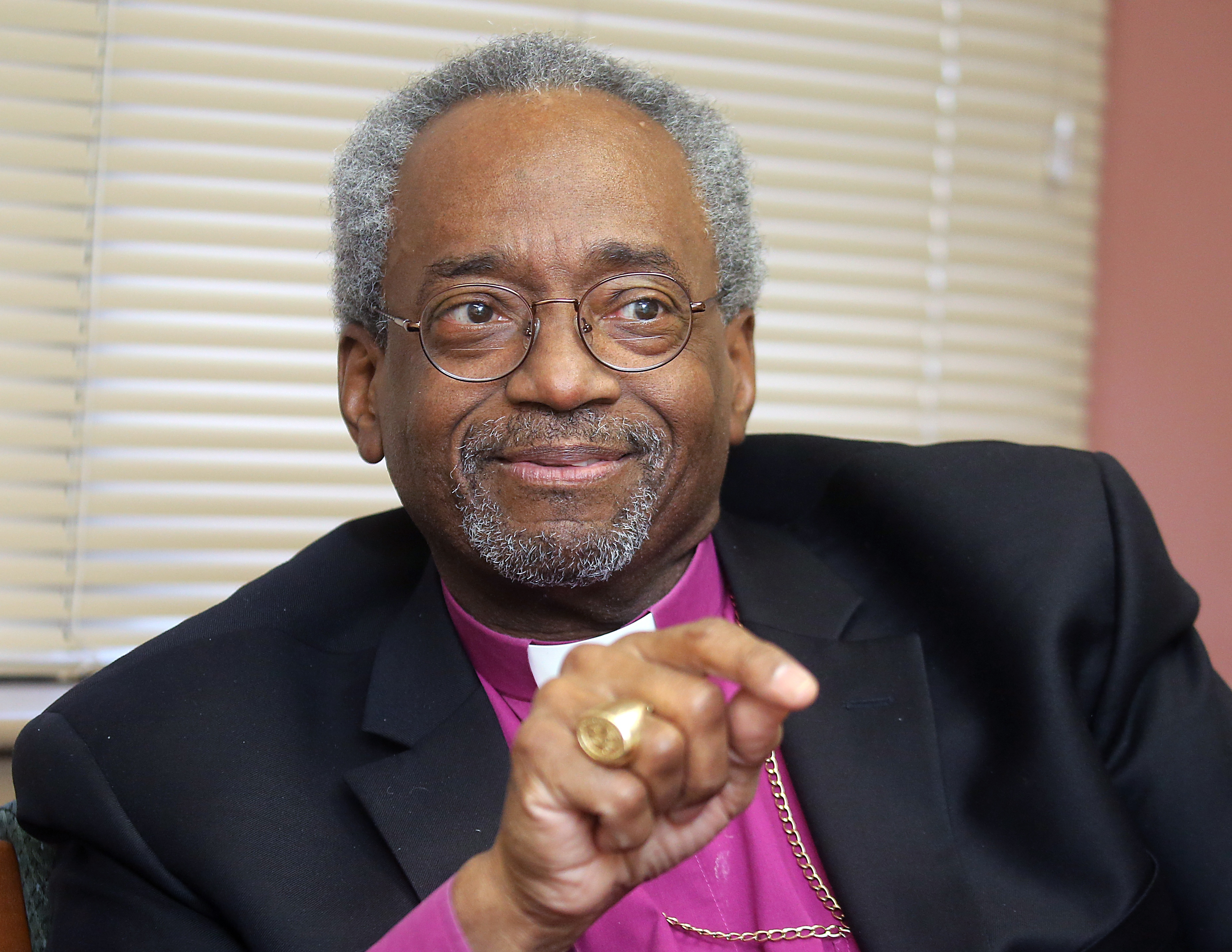 Bishop Michael Curry, head of the Episcopal Church in America, is in the Buffalo area this weekend. (John Hickey/Buffalo News)