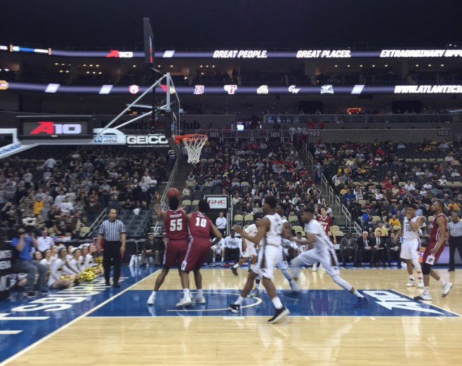 Follow @ByBuckyGleason, who is live from Pittsburgh for the A-10 Tournament. (Bucky Gleason photo)