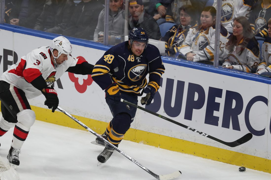 William Carrier is likely to return to the Sabres lineup this weekend. (James P. McCoy/Buffalo News)