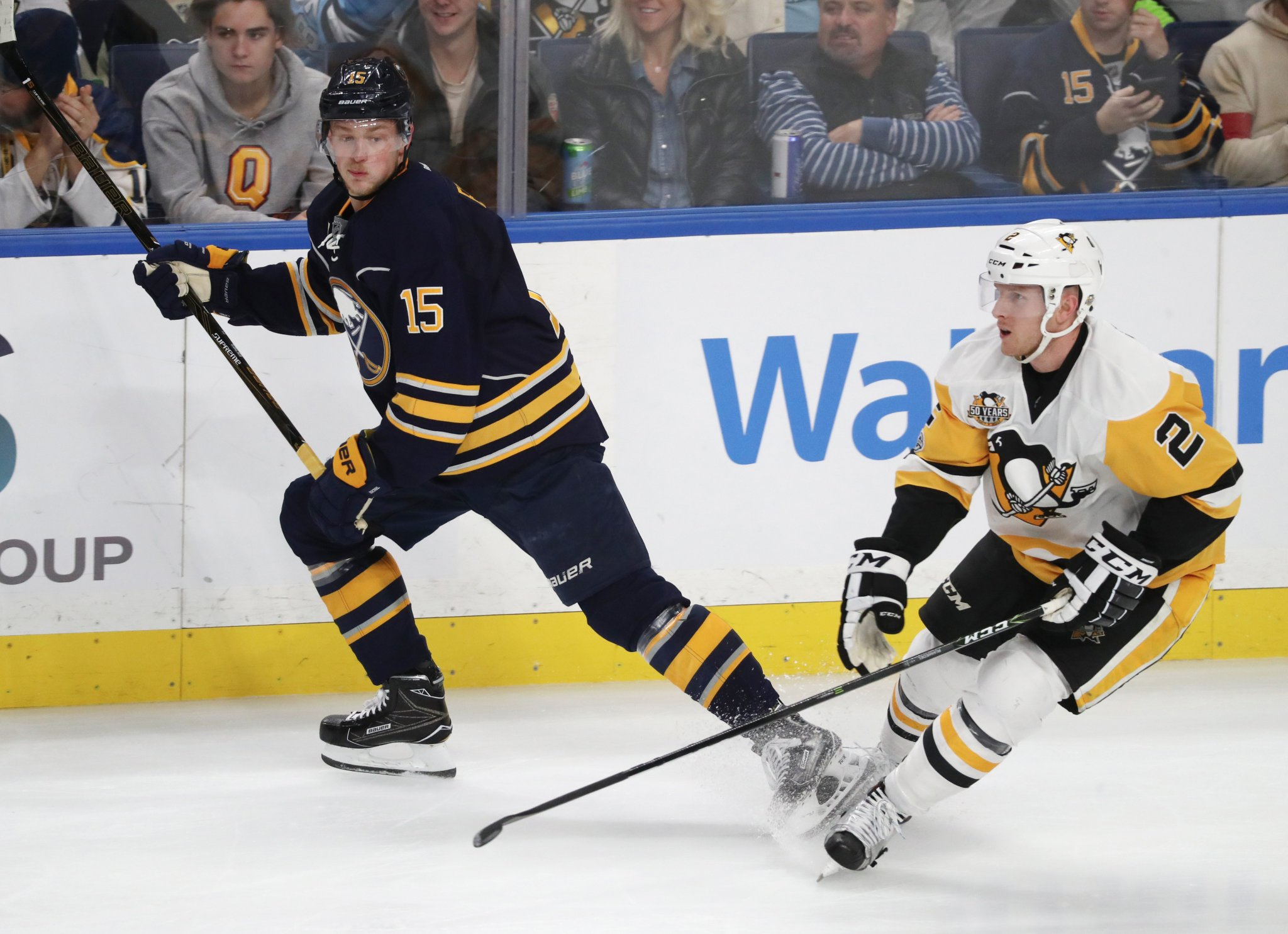 After four seasons in the Sabres organization, Chad Ruhwedel found a fit in Pittsburgh. (James P. McCoy/Buffalo News)