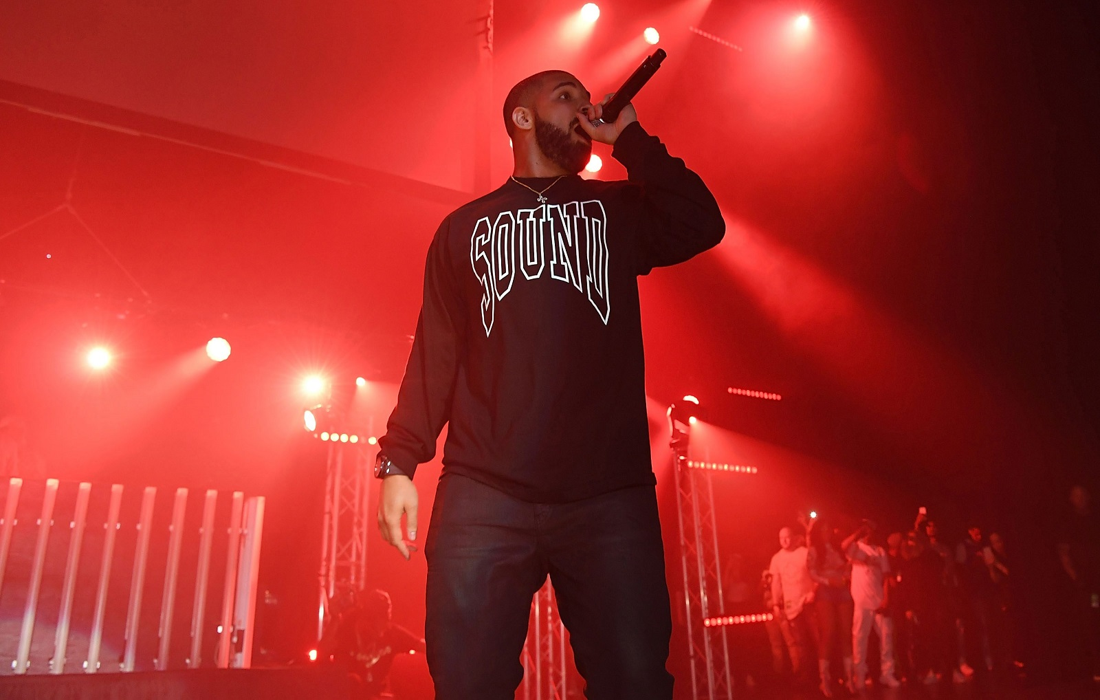 Drake, performing in 2016 in Georgia, wrote a verse that included a shout-out to Buffalo. (Getty Images)